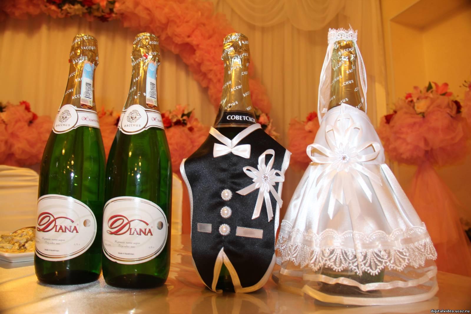 Свадьба фото на шампанском